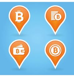 bitcoin pointers vector image