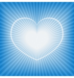 blue background with heart vector image