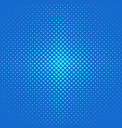 blue halftone heart background pattern - love vector image