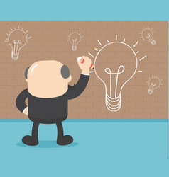 Businessmen are painting a wall lamp when vector