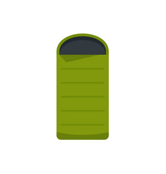 Camp sleeping bag icon flat style vector