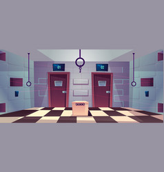 Cartoon quest escape room with doors vector