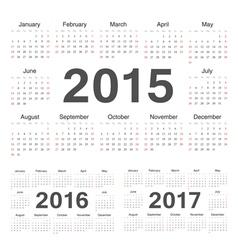 Circle calendars 2015 2016 2017 vector