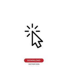 click icon cursor symbol vector image