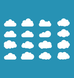 clouds icon set flat style vector image