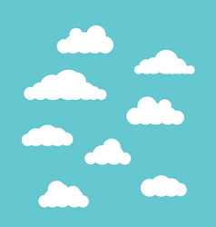 clouds set isolated on blue sky background vector image