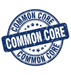 Common core blue grunge stamp vector