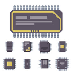cpu microprocessors microchip vector image