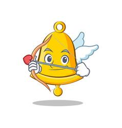 Cupid school bell character cartoon vector