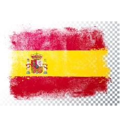 distressed grunge flag spain vector image