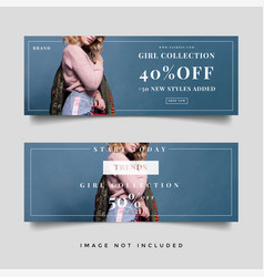 Fashion sale banner template vector