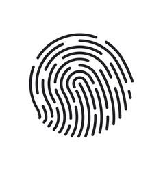 Fingerprint icons thumb finger logo unique touch vector