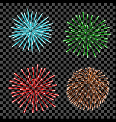 Fireworks set isolated vector