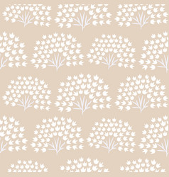 Floral simple seamless pattern with grass plants vector