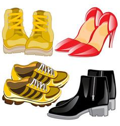 footwear male and feminine vector image