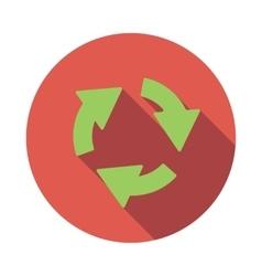 Green circular arrows icon flat style vector