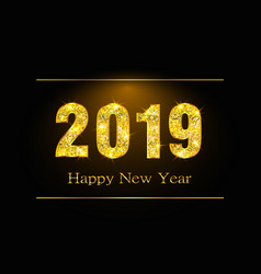 Happy new year 2019 background with golden vector