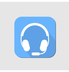 Headset flat icon vector image