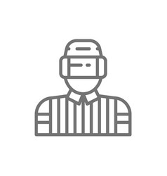 hockey judge referee arbiter line icon vector image