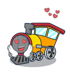 in love train mascot cartoon style vector image