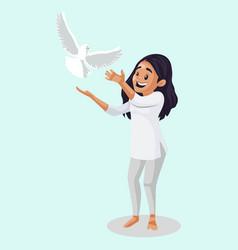 Indian girl cartoon vector