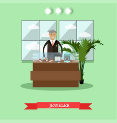 Jeweler concept in flat style vector