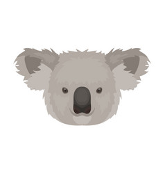koala icon in cartoon style isolated on white vector image
