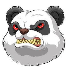 Mascot head an angry panda vector