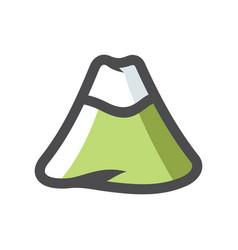 mountain with snow cap icon cartoon vector image