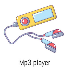 Mp3 player icon cartoon style vector