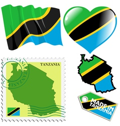 National colours of Tanzania vector