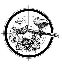 Paintball aim vector