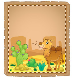 Parchment with camel 2 vector