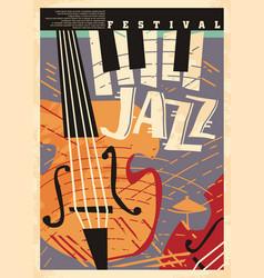 poster design template for jazz festival vector image