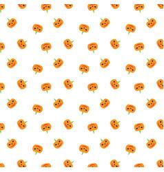 Pumpkin background seamless pattern happy vector
