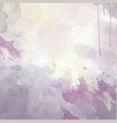purple hand drawn watercolor background vector image
