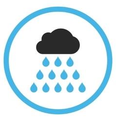 Rain Cloud Flat Icon vector image