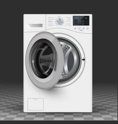 relistic of washer vector image