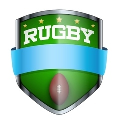 Rugby Shield badge vector