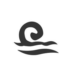 Sea waves icon vector
