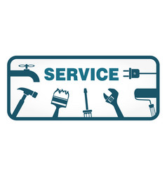 service symbol with tool vector image