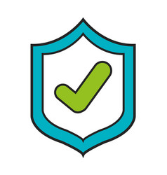 Shield with check icon vector