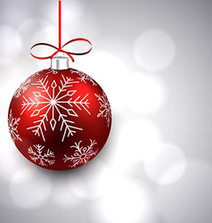 Silver background with christmas ball vector
