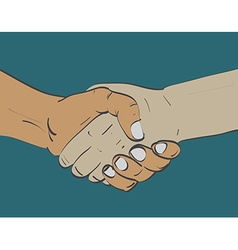 Sketch of two shaking hands vector image