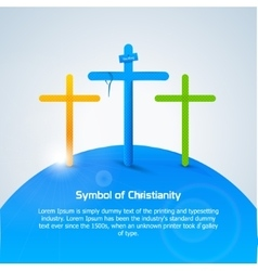 Symbol of Christianity Cross vector