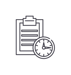 Time limit line icon concept time limit vector