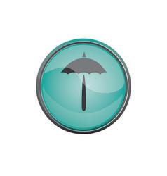 travel icon summer vacations umbrella vector image