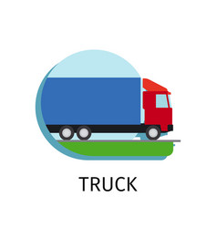 Truck transport in flat style vector