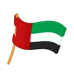 United Arab Emirates flag icon cartoon style vector image