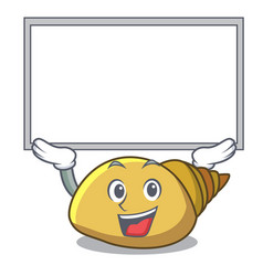 Up board mollusk shell character cartoon vector